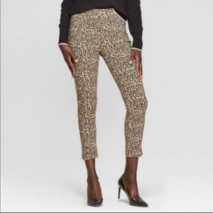 Who What Wear High Rise Leopard Print Pants